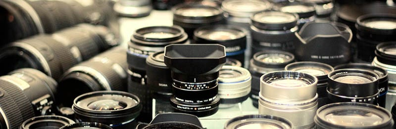 CP+ lenses shelf